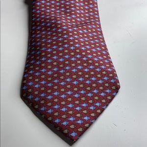Hermès 100% silk red tie